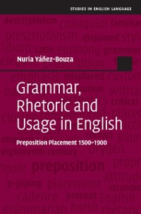 Cover Grammar, Rhetoric and Usage in English