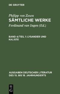 Cover Lysander und Kaliste