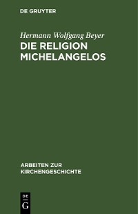 Cover Die Religion Michelangelos