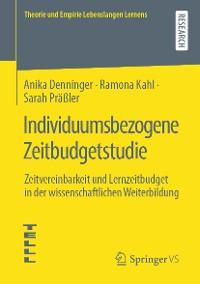 Cover Individuumsbezogene Zeitbudgetstudie