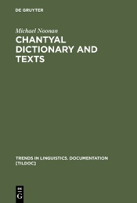 Cover Chantyal Dictionary and Texts