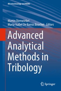 Cover Advanced Analytical Methods in Tribology