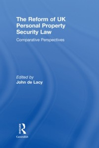 Cover Reform of UK Personal Property Security Law