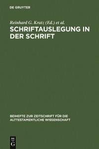 Cover Schriftauslegung in der Schrift