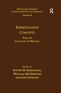 Cover Volume 15, Tome VI: Kierkegaard's Concepts