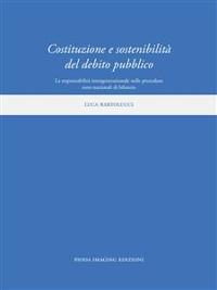 Cover Costituzione e sostenibilità del debito pubblico