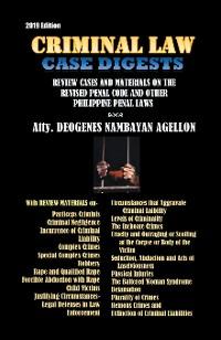Cover Criminal Law Case Digests