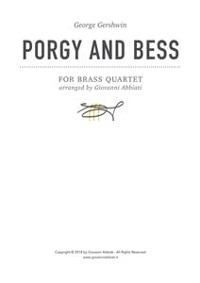 Cover George Gershwin Porgy and Bess for Brass Quartet
