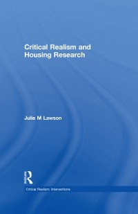 Cover Critical Realism and Housing Research