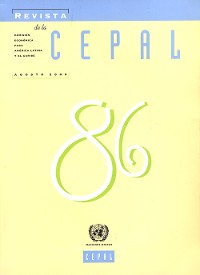 Cover Revista de la CEPAL No.86, Agosto 2005