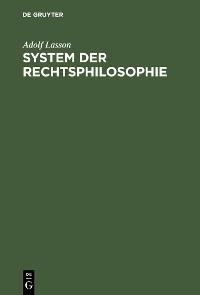 Cover System der Rechtsphilosophie